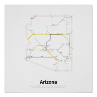 Highways of the USA - Arizona Poster