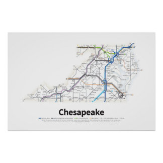 Highways of the USA - Chesapeake Poster