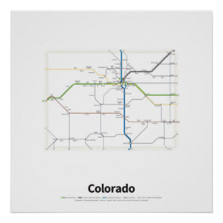 Highways of the USA - Colorado Poster