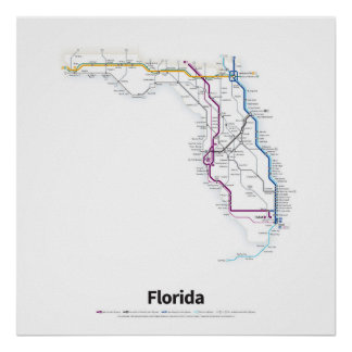 Highways of the USA - Florida Poster