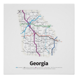 Highways of the USA - Georgia Poster