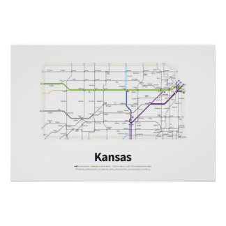 Highways of the USA - Kansas Poster