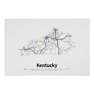 Highways of the USA - Kentucky Poster