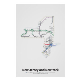 Highways of the USA - New Jersey and New York Poster