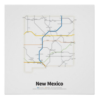 Highways of the USA - New Mexico Poster