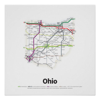 Highways of the USA - Ohio Poster