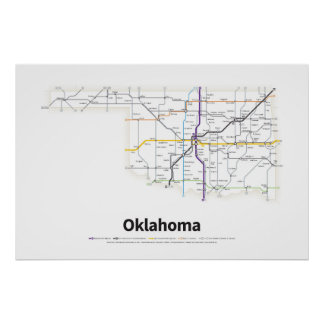 Highways of the USA - Oklahoma Poster