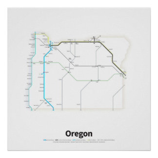 Highways of the USA - Oregon Poster