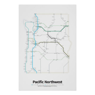 Highways of the USA - Pacific Northwest Poster