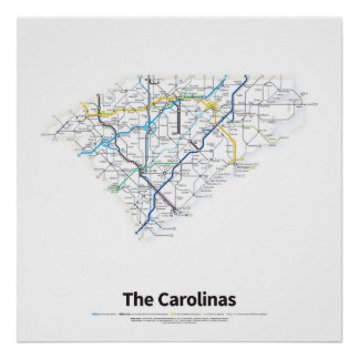 Highways of the USA - The Carolinas Poster