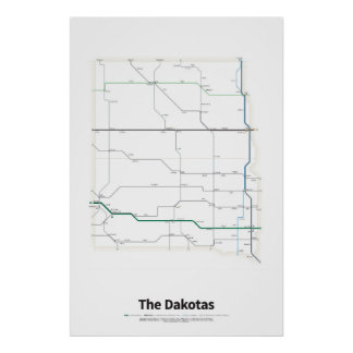 Highways of the USA - The Dakotas Poster