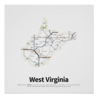 Highways of the USA - West Virginia Poster