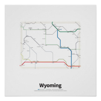 Highways of the USA - Wyoming Poster