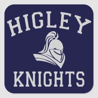 Higley Knights Square Sticker