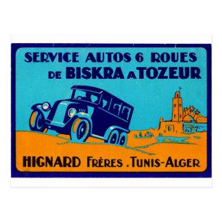 Hignard Frere Tunis retro Label Postcatd Postcard