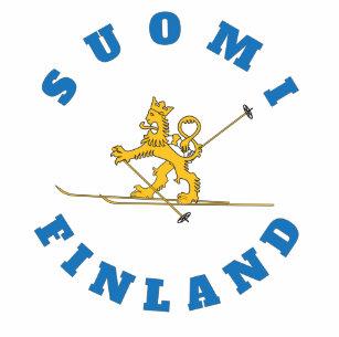 Hiihtävä suomileijona - Suomi - Finland - t-paita T-Shirt d1ba81a1ce