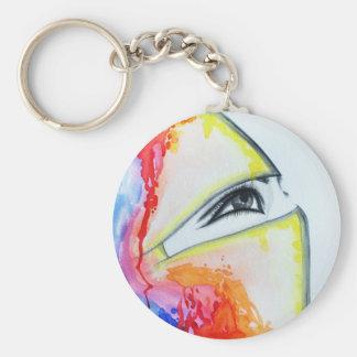 HIjab Basic Round Button Keychain