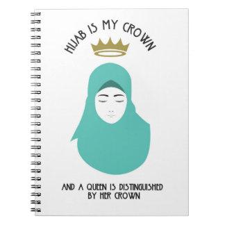 Hijab is my crown - AQUA Spiral Notebook