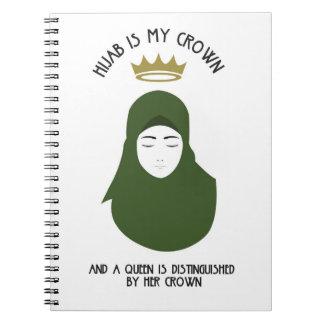 Hijab is my crown - AVOCADO Spiral Notebook