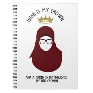 Hijab is my crown - BUR - GLASSES Notebook