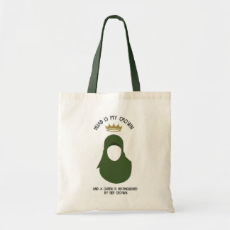 Hijab is my crown - HIJAB - AVO - FACELESS Tote Bag