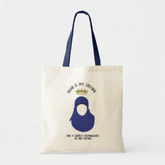 Hijab is my crown - HIJAB - BLU - FACELESS Tote Bag