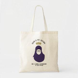 Hijab is my crown - HIJAB - PUR - GLA V1 Tote Bag