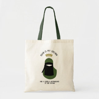 Hijab is my crown - NIQAB - AVO - FACELESS Tote Bag