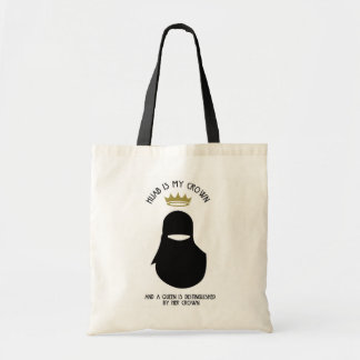 Hijab is my crown - NIQAB - BLA - FACELESS Tote Bag