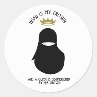Hijab is my crown - NIQAB Classic Round Sticker
