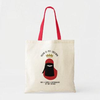 Hijab is my crown - NIQAB - RED - GLASSES Tote Bag