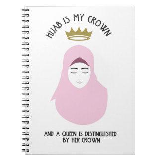 Hijab is my crown - PINK Spiral Notebook