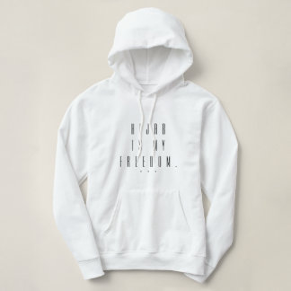 hijab is my freedom hood islamic quote clothing hoodie
