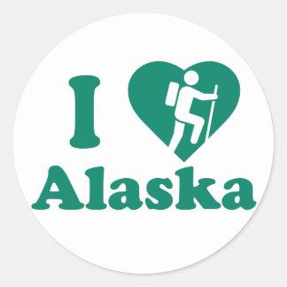 Hike Alaska Round Sticker