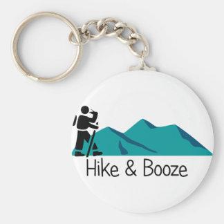 hike and booze keychain