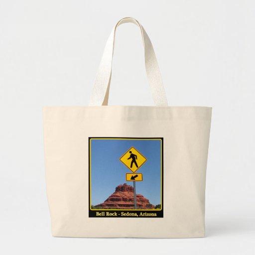 Hike Bell Rock Tote Bags
