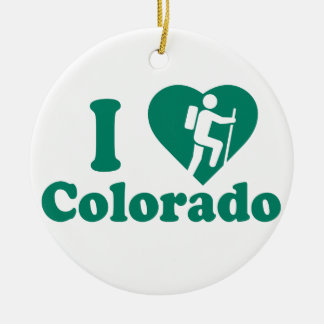 Hike Colorado Ceramic Ornament
