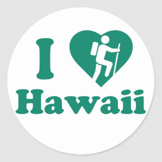 Hike Hawaii Classic Round Sticker