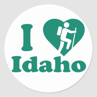 Hike Idaho Classic Round Sticker