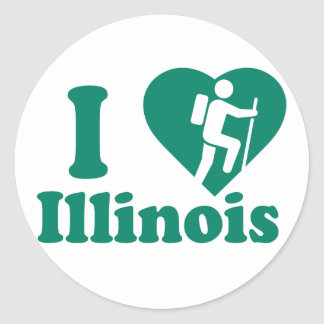 Hike Illinois Classic Round Sticker