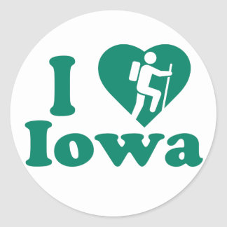 Hike Iowa Classic Round Sticker