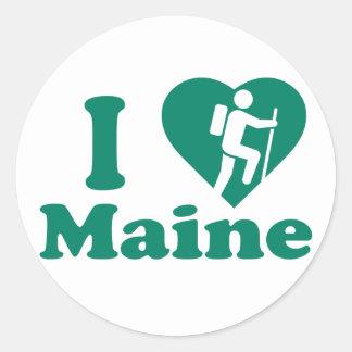 Hike Maine Classic Round Sticker