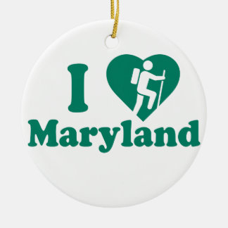 Hike Maryland Ceramic Ornament