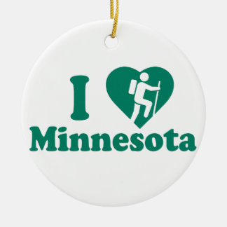 Hike Minnesota Ceramic Ornament