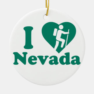 Hike Nevada Ceramic Ornament