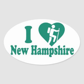 Hike New Hampshire Oval Sticker