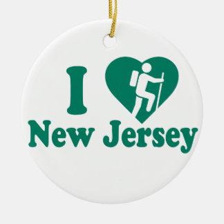 Hike New Jersey Ceramic Ornament