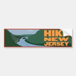 Hike New Jersey - Sticker Bumper Sticker