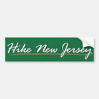 Hike New Jersey Sticker Bumper Sticker