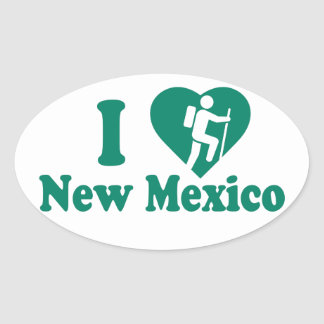 Hike New Mexico Oval Sticker